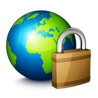 Concept planète terre sécurité